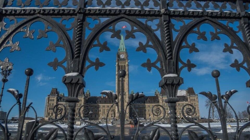 La colline du Parlement à Ottawa.