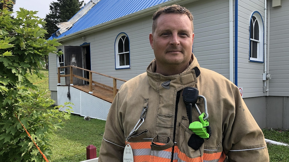Pascal Martel, directeur du Service incendie pour Pointe-à-la-Croix, Matapédia-Les-Plateaux.