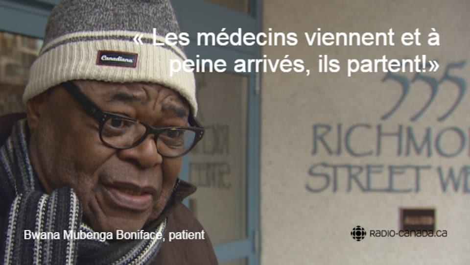 Un patient du CFT s'exclame : «Les médecins viennent et à peine arrivés, ils partent!»
