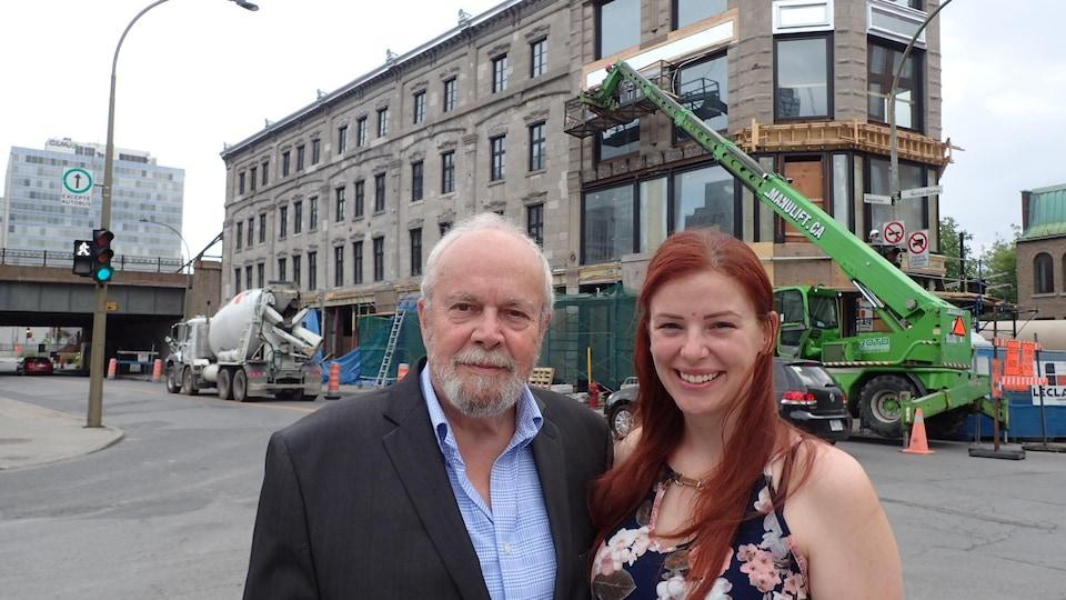 Georges Coulombe et Julie Guillemette, chargée de projet.