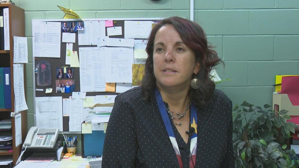 Paulette LeBlanc, la directrice de l'École Évangéline.