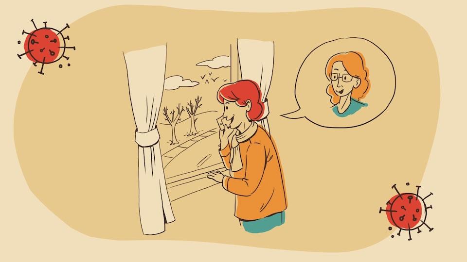 Pauline parle au téléphone avec sa copine Lucie.