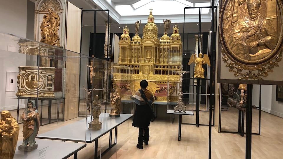 Une salle d'exposition du Musée national des beaux-arts du Québec