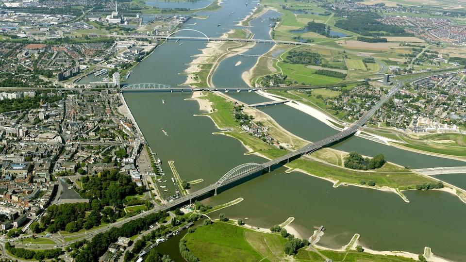Le tout nouveau parc de la ville historique de Nijmegen, à 130 kilomètres au sud-est d'Amsterdam.