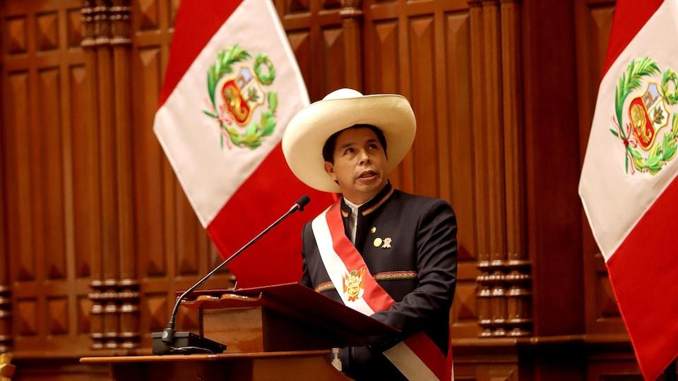 Le président péruvien Pedro Castillo