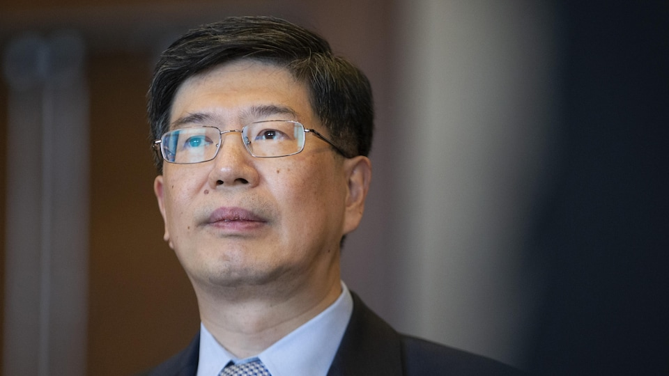 Peiwu Cong au Conseil des relations internationales de Montréal.
