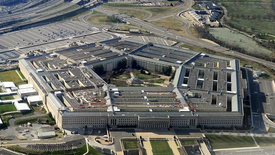 Une vue aérienne du Pentagone.