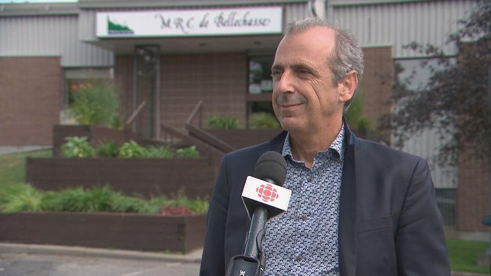 Alain Vallières en entrevue à Radio-Canada.