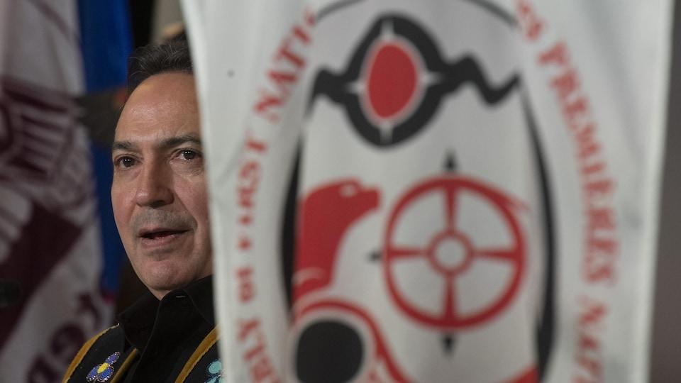 Perry Bellegarde, chef de l'Assemblée des Premières Nations, lors de l'Assemblée spéciale des chefs de l'APN à Ottawa, le mercredi 4 décembre 2019.