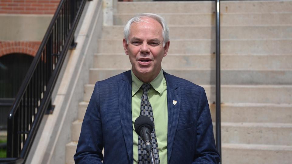 Peter Bevan-Baker, chef de l'opposition officielle à l'Île-du-Prince-Édouard.