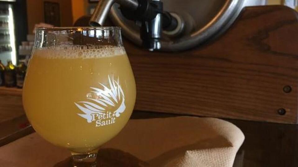 Une bière du Petit-Sault.