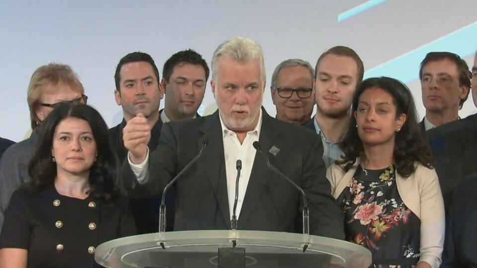 Le premier ministre du Québec, Philippe Couillard