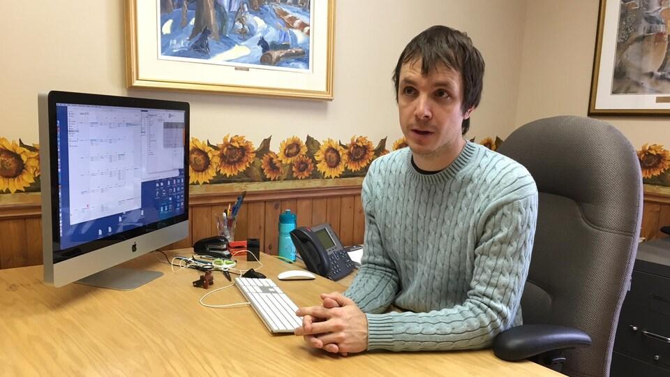 Le maire de Petit-Saguenay, Philôme Lafrance