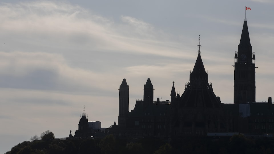 Vue du parlement du Canada, à Ottawa.