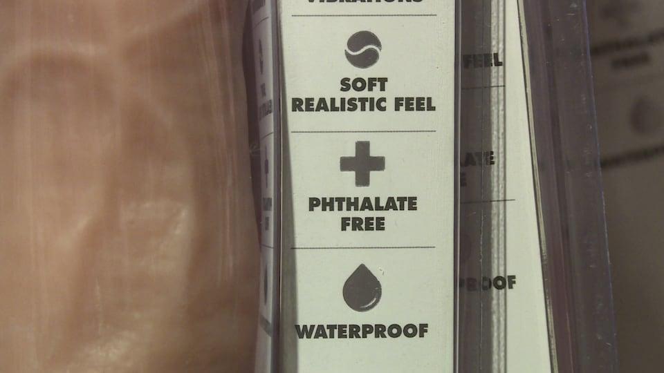 Un emballage de jouet sexuel.