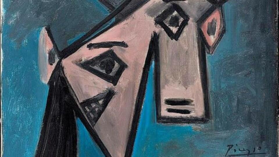 Un tableau de la période cubiste de Picasso.