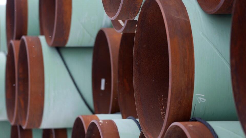 Photo de morceaux de pipelines