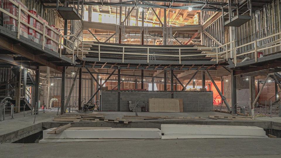 Une salle de spectacle en construction