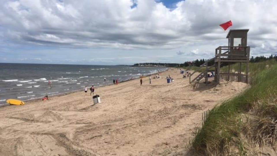La plage Parlee à Shediac.
