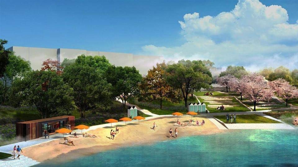Projet initial d'aménagement de la plage de l'arrondissement de Verdun
