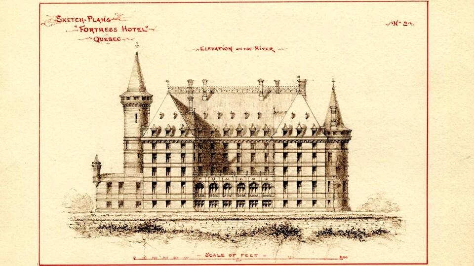 Plan d'un hôtel dessiné par Eugène-Étienne Taché
