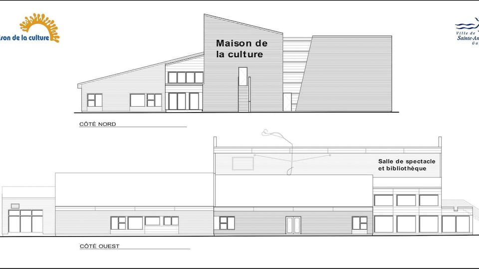 Plan de la future Maison de la Culture de Sainte-Anne-des-Monts.