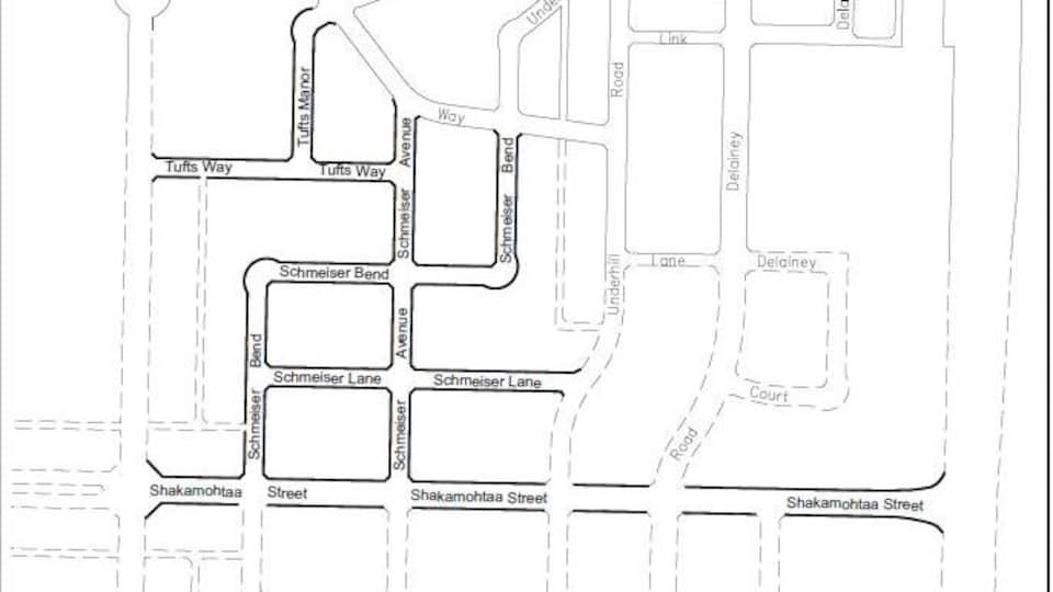 Un plan de la future rue Shakamohtaa, à Saskatoon.