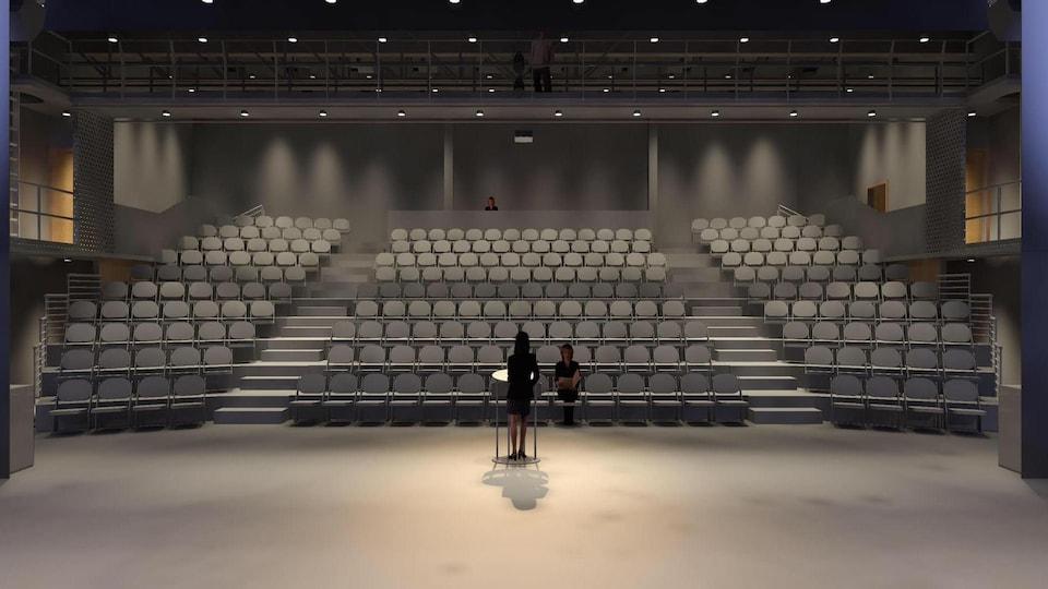 Autre point de vue de la future salle de spectacle de Sainte-Anne-des-Monts