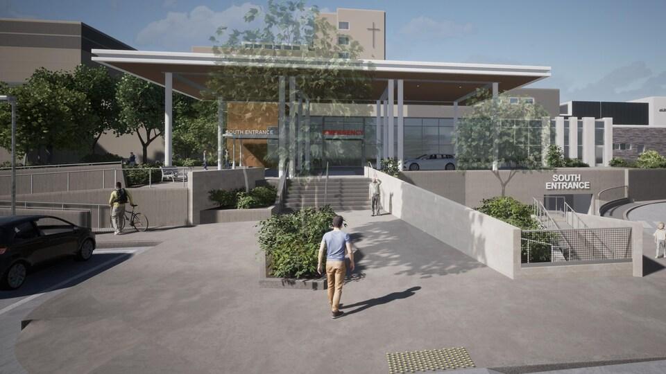 Une vue réalisée par un cabinet d'architecture des futures urgences de l'Hôpital Saint-Boniface, à Winnipeg.