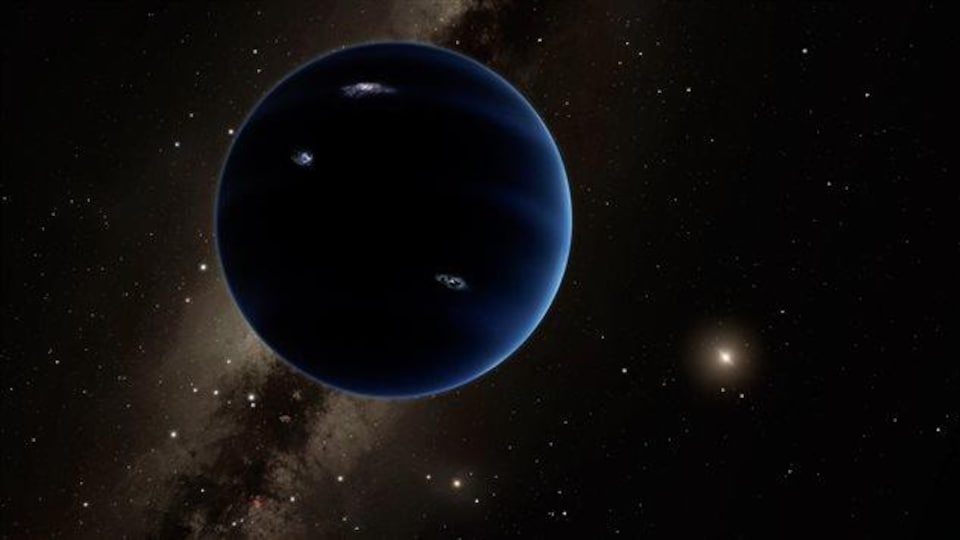 Représentation artistique de la neuvième planète.