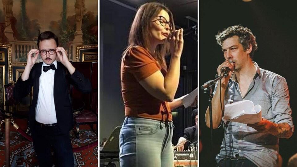 Trois poètes en prestation