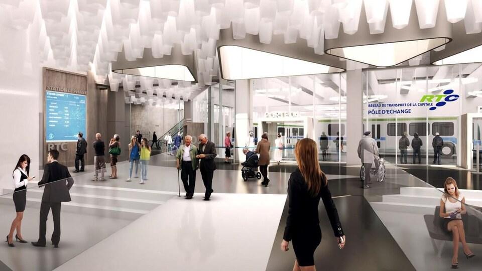 La station Le Phare sera notamment un pôle d'échange, selon les prévisions actuelles.