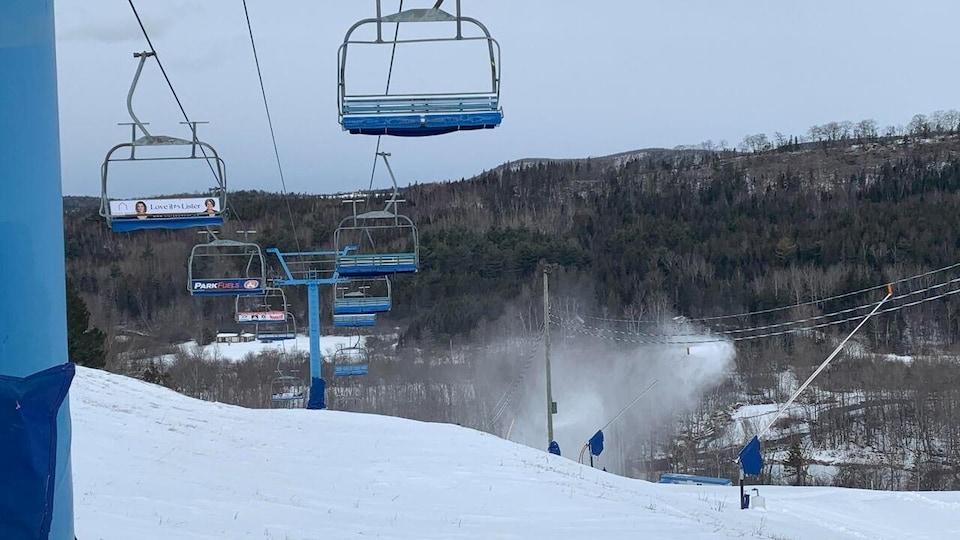 La station de ski Poley, en janvier 2021.