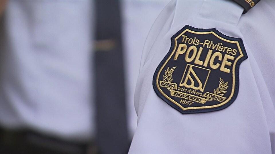 Un écusson de la police de Trois-Rivières.