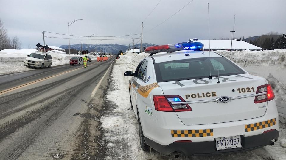 Policiers route 132 dans la Baie-des-Chaleurs