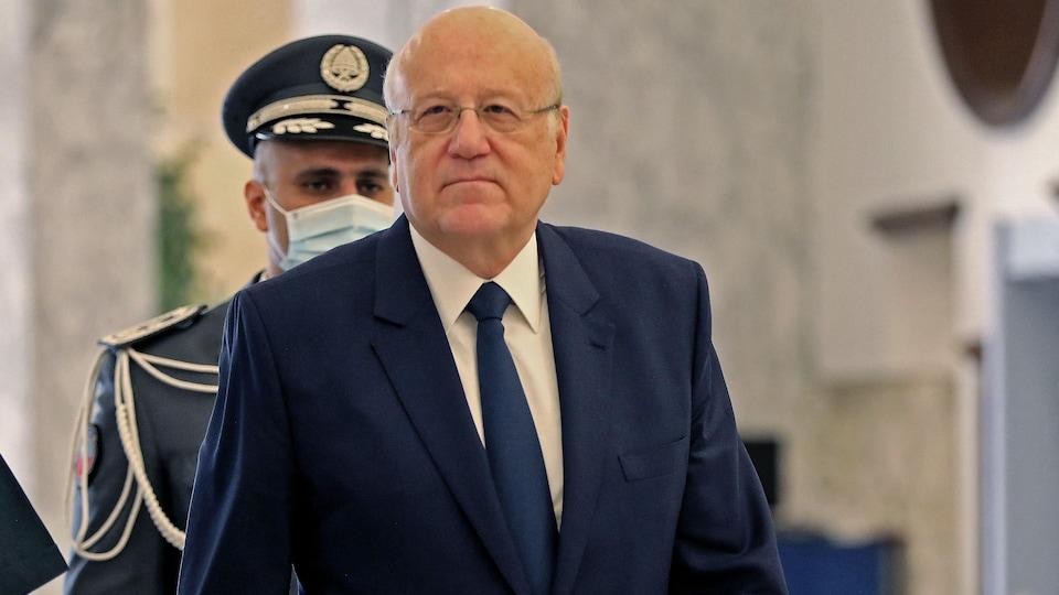 Le premier ministre du liban lors d'une réunion le 13 septembre dernier.