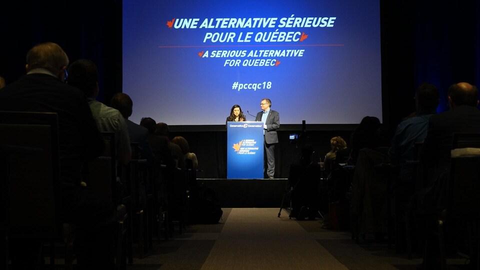 Une allocution dans le cadre du conseil général du Parti conservateur du Canada à Saint-Hyacinthe.