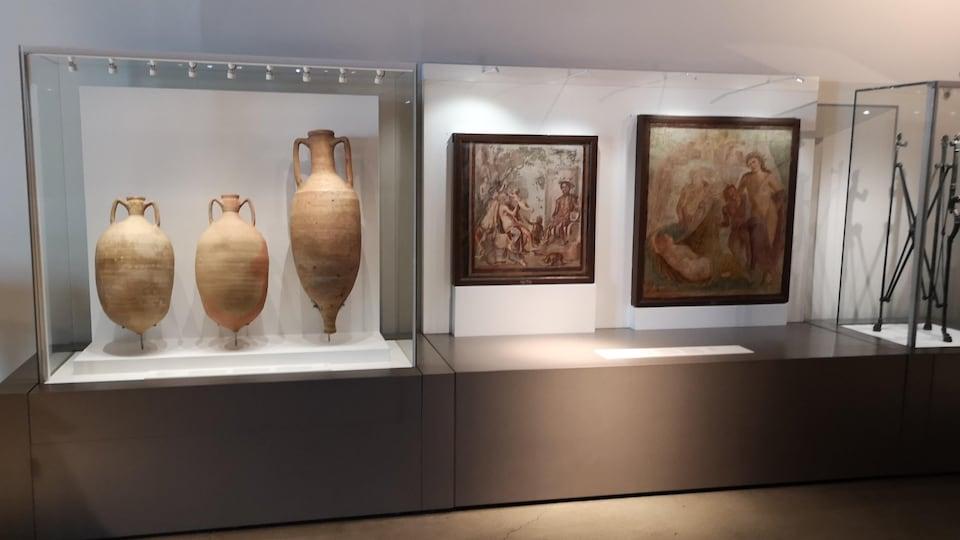 Un pan de l'exposition «Pompéi, Cité immortelle»