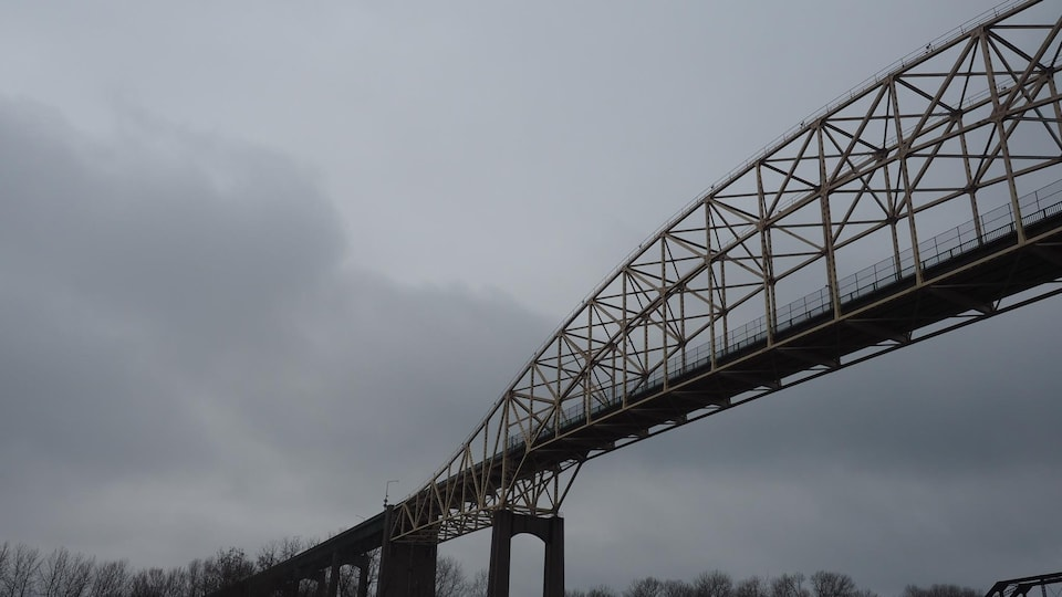 Le pont international de Sault-Sainte-Marie en Ontario.