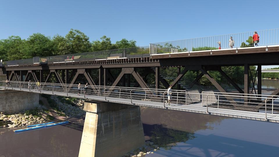 Un pont transformé en piste multifonctionnelle.