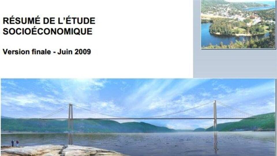 Une esquisse du projet de pont en 2009.
