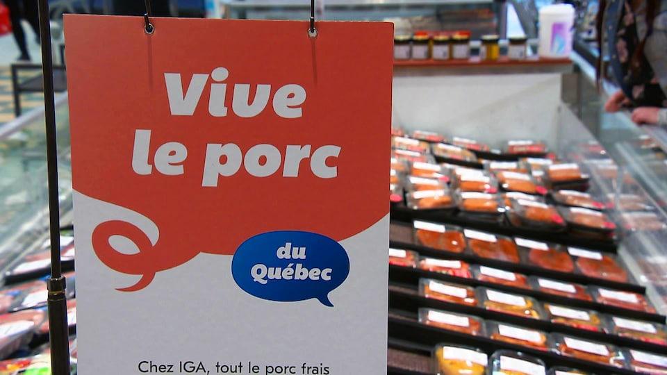 IGA a décidé de vendre du porc exclusivement québécois sur ses tablettes.