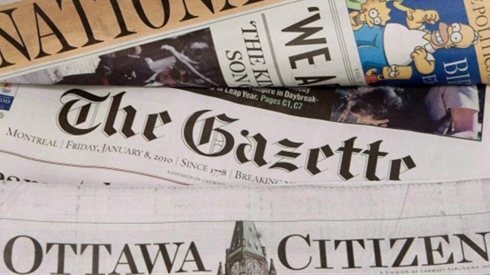 Archives : journaux de Postmedia.