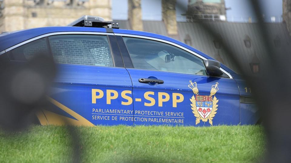 Une voiture du Service de protection parlementaire.