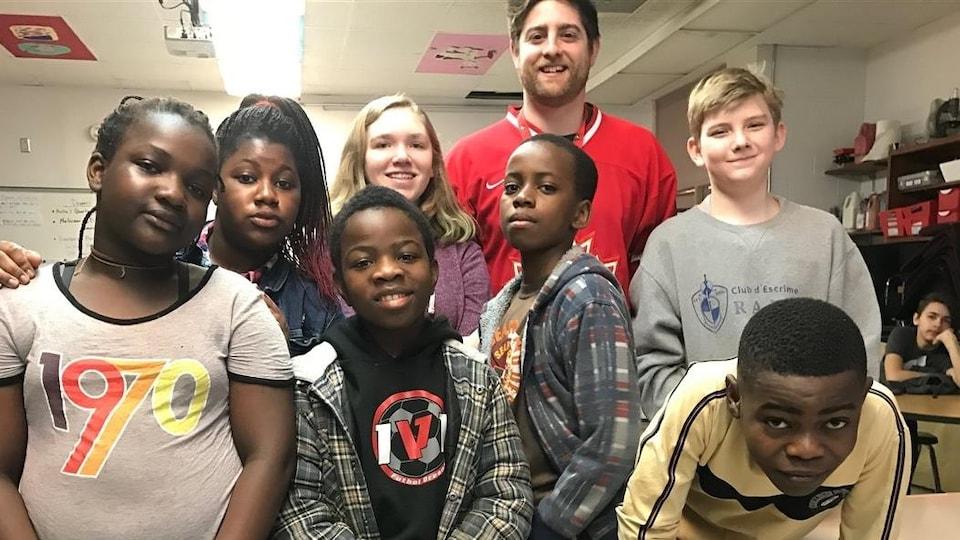 Un groupe d'élèves de l'École Précieux-Sang