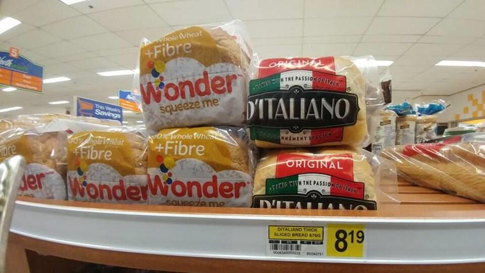 Un pain tranché à 8,19 $.