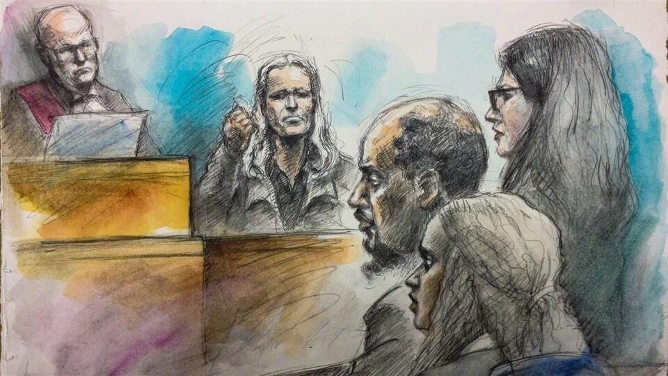 Ian Nordheimer, David Hughes et l'accusé Adonay Zekarias