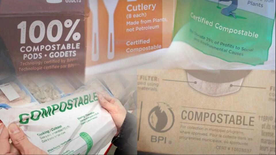 Des produits compostables.