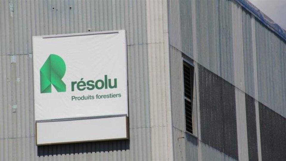Le logo de l'entreprise Produits forestiers Résolu.