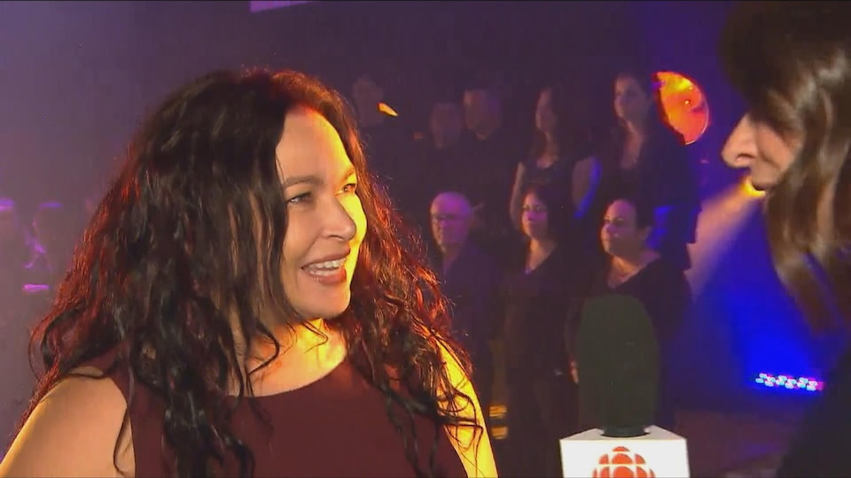 La directrice de la programmation de Diffusion Saguenay, Claudine Bourdages en entrevue